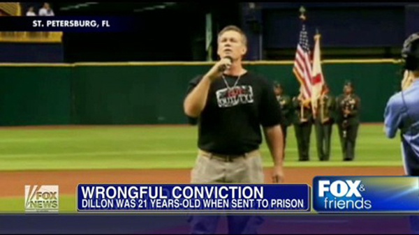 William Dillon sang National Anthem at Tampa Bay Rays game.